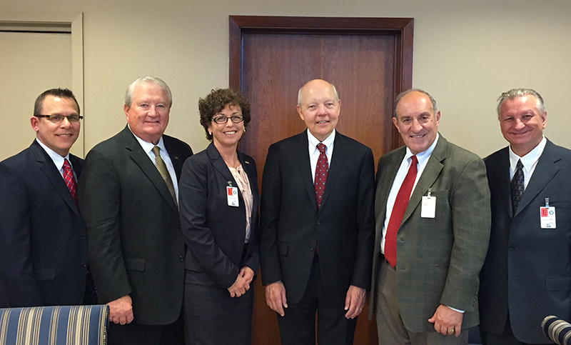 NSA Officers met with Commissioner Koskinen on Novermber 18, 2015. From left to right, Brian Thompson, NSA 2nd Vice President; Curtis Lee, NSA Secretary Treasurer; Kathy Hettick, NSA President; Commissioner Koskinen, NSA Executive Vice President, John Ams; and NSA 1st Vice President, Alfred Giovetti.